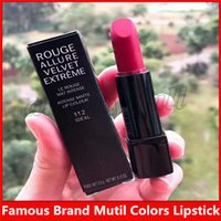 Wholesale nice lipstick for sale - Group buy Famous Brand Matte Lipstick ROUGE ALLURE VELVET EXTREME Multi Colors with nice quality