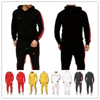 Wholesale man suit girl resale online - Men s Champion Brand Tracksuits Designer Hoodies and Pants Two Piece Set Long Sleeve Outfits Man Hooded Sportswear Jogger Suit M XL B82301