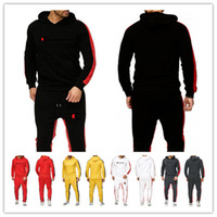 ingrosso i joggers vestono gli uomini-Tute da uomo di marca Tute da uomo Felpe con cappuccio e pantaloni firmati Set di due pezzi Maniche lunghe Abiti da uomo con cappuccio Sportswear Jogger Suit M-2XL B82301