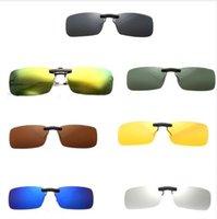 солнцезащитные очки uva uvb оптовых-Унисекс поляризованный клип на солнцезащитные очки ближнего зрения вождения объектив ночного видения Anti-UVA Anti-UVB езда на велосипеде солнцезащитные очки клип