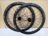 bisiklet disk hub'ları toptan satış-700C Karbon Jantlar disk fren 50mm Kattığı karbon jant 25mm genişlik disk fren yol bisiklet tekerlek Novatec D411 ile 412 hub