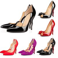 Wholesale new style pumps for sale - Group buy New Designer Shoes sneaker So Kate Styles High morph Heels Shoes Red Bottoms Luxury CM Genuine Leather Point Toe Pumps size with box