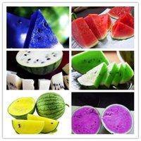 bolsa de agua china al por mayor-12 tipos de semillas de sandía chinas raras se pueden elegir deliciosas semillas de melón de agua de fruta Semillas de plantas de bonsái - 30 piezas / bolsa