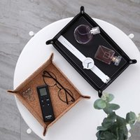 Wholesale wooden study room resale online - Dice Holder PU Leather Folding Tray Dice Rolling Tray for Serving Collapsible Wallet Coin Key Trinket Tray Storage Box
