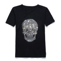 ingrosso maglietta di cotone del giappone-T-shirt in cotone a manica corta con scollo tondo a manica lunga in strass di diamanti del Giappone di Mastermind