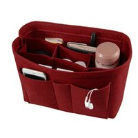 Wholesale accessories storage bag for sale - Group buy Hot Home Storage Organizer Felt Bag In Bag Folding Office Desk Organizer Jewelry Cosmetic Makeup Bag Multifunctional