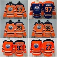 edmonton jugend großhandel-Männer Frauen Jugend Kinder Edmonton Oilers 99 Wayne Gretzky 29 Leon Draisaitl 97 Connor McDavid 27 Milan Lucic 93 Ryan Nugent-Hopkins Alle Genähtes