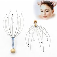 Wholesale anti stress tool resale online - Anti stress Tens Octopus Head Scalp Neck Stress Release Relax Massager Claw Face Skin Care Lift Tools