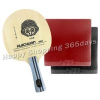 tischtennis gummi pro großhandel-Pro Tischtennis PingPong Combo Schläger Galaxy YINHE HUICHUAN 606 Klinge mit 2x 9000 A Pair Gummi Long Shakehand FL