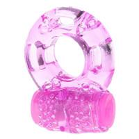 seks için yüzük toptan satış-Parmak Ring Vibratör Yüksek Elastik Silikon Penis Titreşimli Clit Masaj Cockring Oyuncak Erkekler için Seks Oyuncakları Yetişkin Ürünleri