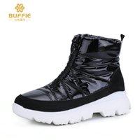 yeni kürk botları toptan satış-Yeni Kadın Boots Kadın Aşağı Kış Boots Su geçirmez Sıcak Bilek Kar Boots Bayan Ayakkabıları Kadın Sıcak Kürk Casual Patik