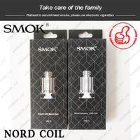 bobina de cera para micro g pluma al por mayor-SMOK Nord Coils genuino 1.4Ohm MTL 0.6Ohm DC 0.6ohm Núcleo de cabeza de bobina de malla para kit de cartuchos de vaina 3ml Auténtico Smoktech DHL