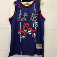 Wholesale chinese press resale online - Mens Raptor Vince Carter Chinese New Year Edition Swingman Basketball Jersey AU Hot Pressing Printed Name Number Authentic US Size XS XXL