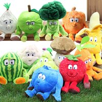 Wholesale plush toy fruits vegetables for sale - Group buy Multiple Styles Selected New Fruits Vegetables Cabbage Pineapple Blueberries Stuffed Plush Doll Toy for Croatia Kids Children SH190913