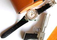Wholesale mens black platinum watch resale online - New Mens Automatic Movement Cal SC Date Diamond Bezel Men Eta A Platinum Watches Leather Strap mm Factory Men Watch