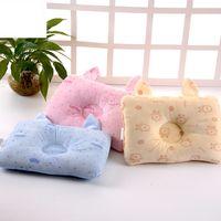 oreiller migraine achat en gros de-Oreiller de bébé nouveau-né coton forme mignonne pour corriger l'oreiller en mousse à mémoire anti-migraine pour le nouveau-né bébé livraison gratuite