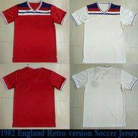 Wholesale uniforms england resale online - 1982 England Retro version men Soccer Jersey HOME RED KANE STERLING VARDY RASHFORD DELE Soccer Shirt Away White Football Uniforms