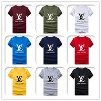 mode v cou t shirts hommes achat en gros de-T-shirt à manches courtes à manches courtes col en V Sport Tide Vêtements T-shirt Hip Hop Harajuku T-shirt Taille S-3XL
