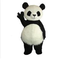 panda fantasia venda por atacado-Profissional personalizado adorável panda Mascot Costume Dos Desenhos Animados China Panda Personagem Roupas Mascote de Natal do Dia Das Bruxas Do Partido Do Vestido Extravagante