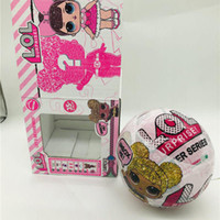 Wholesale magic girl figures for sale - Group buy 10cm Glitter Series3 Doll Magic Egg Ball Action Figure Toy Kids Unpacking Dolls Girls Funny Dress Up Gift