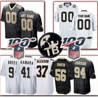 xxl camiseta de fútbol 43 al por mayor-Costumbre Santos de Nueva Orleans Jersey 94 Cameron 22 Ingram II 37 Gleason 33 Edmunds 6 Morstead 43 Williams 92 Davenport 74 Bushrod Fútbol