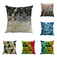 Wholesale office decor paintings resale online - New Geometry Painting Linen Cushion Cover Decorative Throw Pillow Case Pillows For Sofa Home Office Decor