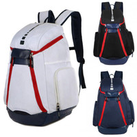 Wholesale Backpack - New National Team Backpack The Olympic Mens Womens Designer Bags Teenager Black White Blue Outdoor Basketball Backpack 3 Colour