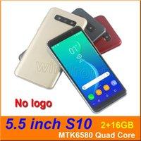 mobile großhandel-5,5 Zoll S10 Viererkabelkern intelligentes Telefon MTK6580 2G 16G Android 5.1 Doppel-SIM-KAM 5MP 960 * 480 3G WCDMA entriegelte mobiles Gesicht Entriegelungsgeste
