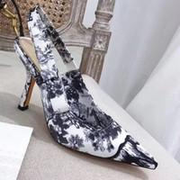 ingrosso segni di fiori-2019 new fashion flower color cat shoes donna sandali donna sandali firmati Sandali firmati Bow segno pentagramma Suola in vera pelle 9.5CM