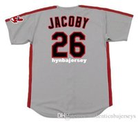 Wholesale brooks running for sale - Group buy Cheap Custom BROOK JACOBY Cleveland Stitched Majestic Vintage Away Baseball Jersey Retro Mens Jerseys Running