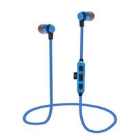baterías de auriculares bluetooth al por mayor-ST-K9 K9 Auriculares Bluetooth Inalámbricos Auriculares deportivos impermeables para iPhone Android Teléfono inteligente 90mAh Batería Tarjeta TF Juego 20pcs / lot