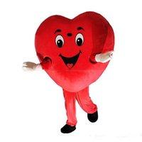trajes da mascote do coração venda por atacado-2019 de alta qualidade coração vermelho amor traje da mascote LOVE heart mascot costume frete grátis pode adicionar o logotipo
