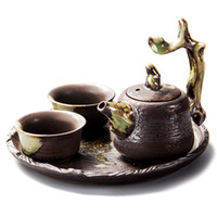 ingrosso ciotole di celadon-Tazza da tè Cinese Longquan Celadon Porcellana Cina tazze da tè e piattino Ciotola da tè Golden China Tea Pot Celadon Teacups Artigianato B017