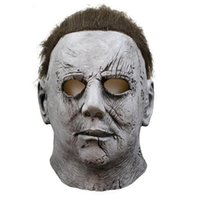 Wholesale horror scary movies masks resale online - 2019 Movie Halloween Horror Michael Myers Mask Carnival Cosplay Adult Latex Full Face Helmet Halloween Party Scary Props