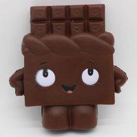 çikolata en düşük fiyat toptan satış-Düşük fiyat sevimli çikolata squishy toys dekompresyon oyuncak kawaii çocuklar hediye squishies t133 chrismas hediye