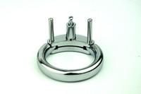 accesorios de jaula de castidad al por mayor-Cinturón de castidad masculina Accesorios Cock jaula de metal del anillo del martillo para adultos Para CB6000 Chastity deivce pene los productos hacia fuera el anillo de sexo masculino juega