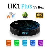 usb 5g venda por atacado-Caixa de TV HK1 Plus Android 8.1 Amlogic S905X2 2 GB / 16 GB 4 GB / 32 GB 64 GB 2.4G / 5G WiFi BT4.0 USB 3.0 X96 Max
