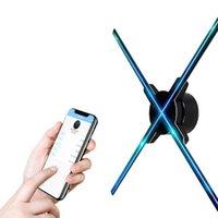 hd реклама оптовых-Высокое разрешение 1600 x 720 HD 3D Голограмма Рекламный дисплей LED Fan Поддержка видео и динамиков