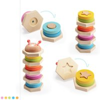 Wholesale toy colorful caterpillars resale online - Educational Wooden Toy Colorful Shape Pillar Caterpillar Wooden Children s Enlightenment Toys Early Learning Gift