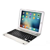 9,7 tastatur tablettenabdeckung großhandel-Smart Bluetooth Tastatur Fall Auto Sleep Wireless Keyboard für iPad Pro 9.7 / Air 2 Vollschutz Tablet Flip Stand Cover