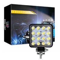 autos für offroad großhandel-48W wasserdicht Flut-LED Arbeits-Lichter, Jeep Off Road Light Bar, LED Driving Nebelscheinwerfer mit Halterung für Jeep, Off-Road, LKW, Auto