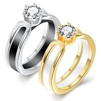 korea pärchen ring groihandel-Keramische Ring europäische und amerikanische Mode Ring weiblichen Zirkonia Damen Ring Japan und Südkorea können paar Geschenke aufspalten