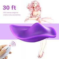 vibrierende spielzeug für frauen großhandel-Tragbare klitoris stimulator massagegerät leise höschen drahtlose fernbedienung vibrierendes ei sexe spielzeug frauen vibratoren dildos weibliche erwachsene