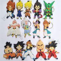 drachenkugelverkäufe großhandel-Heißer Verkauf 8 cm Dragon Ball Keychain Wukong PVC Action-figuren Keychain Spielzeug Für Baby Diy Cartoon Geschenke 14 Stil