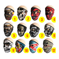 Wholesale cycle products resale online - Cycling Masks Outdoor Sports Products Windproof Dustproof Ultraviolet Sports Bicycle Mask Motorcycle Anime pattern Riding Mask ZZA636