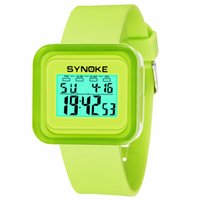 neue art und weise führte uhrfarben großhandel-Synoke neue kinder digitaluhr silikon jungen studentinnen mode lässig 12/24 stunde kinder uhren bonbonfarben led uhr