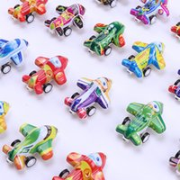 Wholesale toys lowest prices resale online - Creative Mini Car Model Toy Cartoon Tinplate Car Aircraft Moddel with Pull Back Low Price for Kid Birthday Gift Collecting Decoration