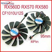 Wholesale 12v fan for cooling resale online - CF1010U12S V A mm Wire Pin VGA Fan For XFX RX560D RX570 RX580 Graphics Card Cooling Fan