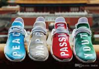 chine chaussure de course achat en gros de-2018 Exclusivité Chine Pack Course Course Course Rouge Passion Passion Or Heureux Vert Jeunesse hu Pharrell Williams Femmes Baskets De Course