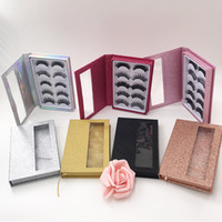 Wholesale hand book for sale - Group buy High Quality Pairs Faux Mink D Eyelashes Natural Eye Lashes with Custom Lashes Book Holographic Book Color